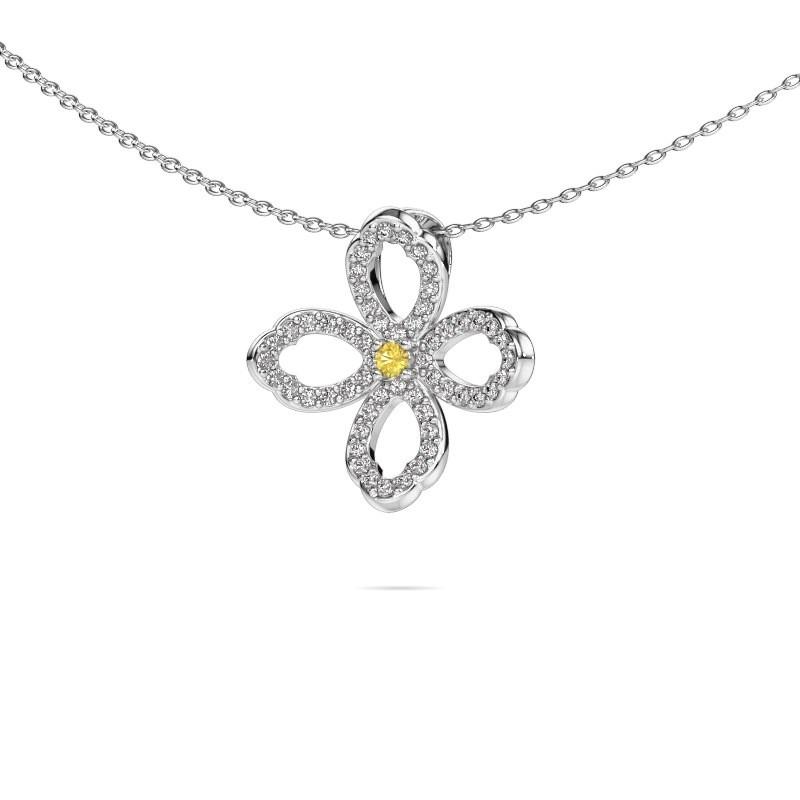 Collier Chelsea 585 or blanc saphir jaune 2 mm