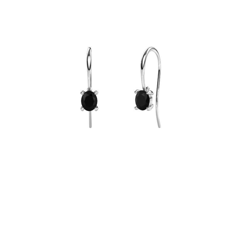 Drop earrings Cleo 950 platinum black diamond 1.20 crt