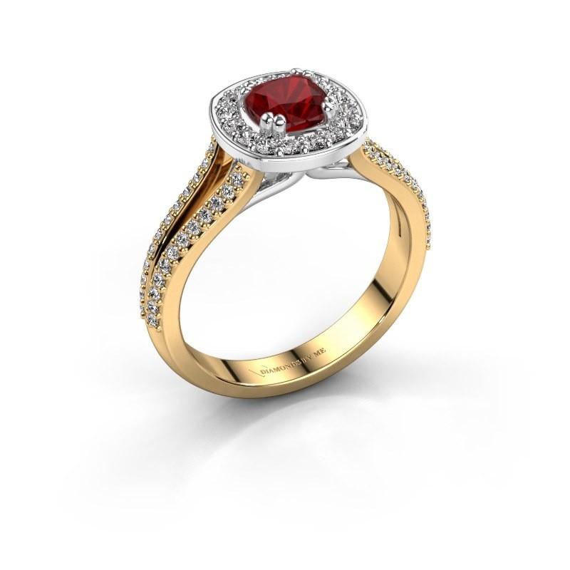 Engagement ring Carolina 2 585 gold ruby 5 mm