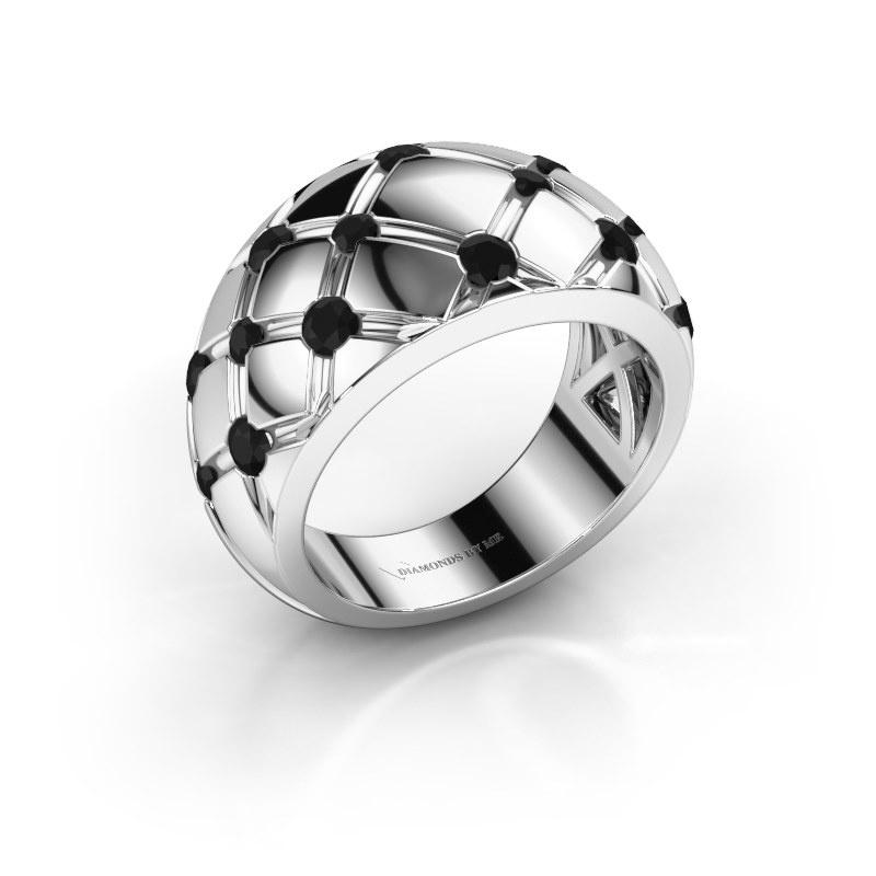 Bague Imke 925 argent diamant noir 0.936 crt