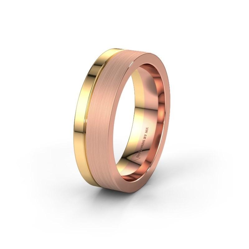 Wedding ring WH0327M16B 585 rose gold ±6x2 mm
