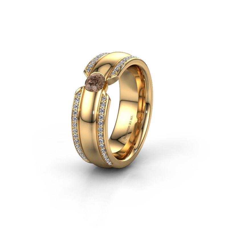 Ehering WHR0575L 585 Gold Braun Diamant ±7x2 mm