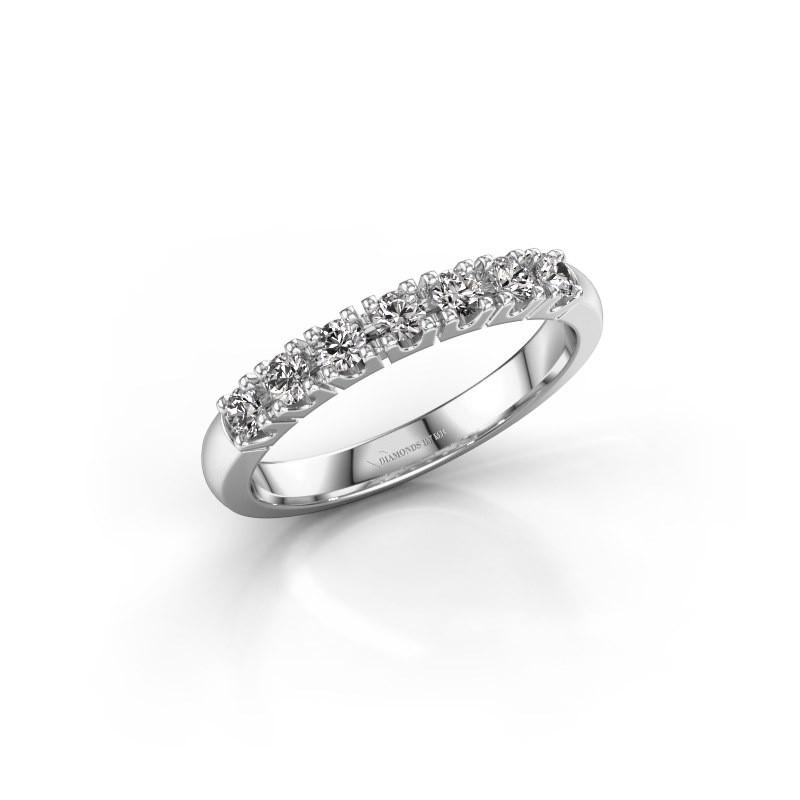 Engagement ring Rianne 7 585 white gold lab-grown diamond 0.385 crt
