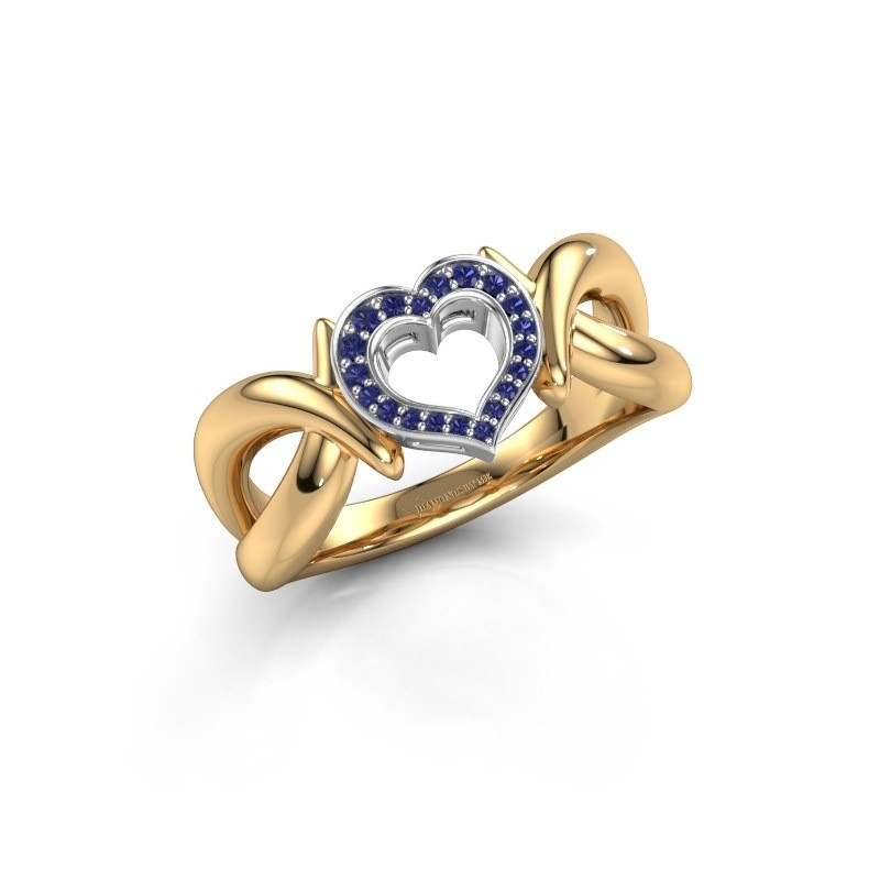 Ring Earlie 1 585 goud saffier 1.1 mm