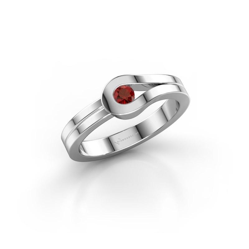 Ring Kiki 925 silver garnet 3 mm