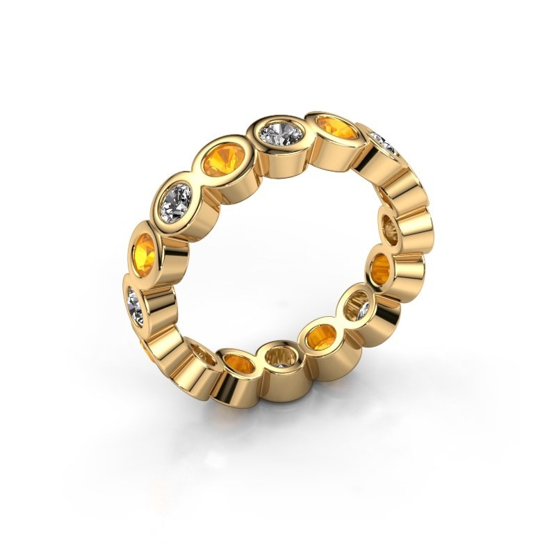 Stackable ring Edwina 3 375 gold lab-grown diamond 0.80 crt