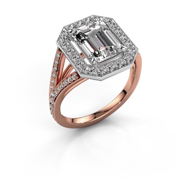 Promise ring Angelita EME 585 rose gold diamond 2.978 crt