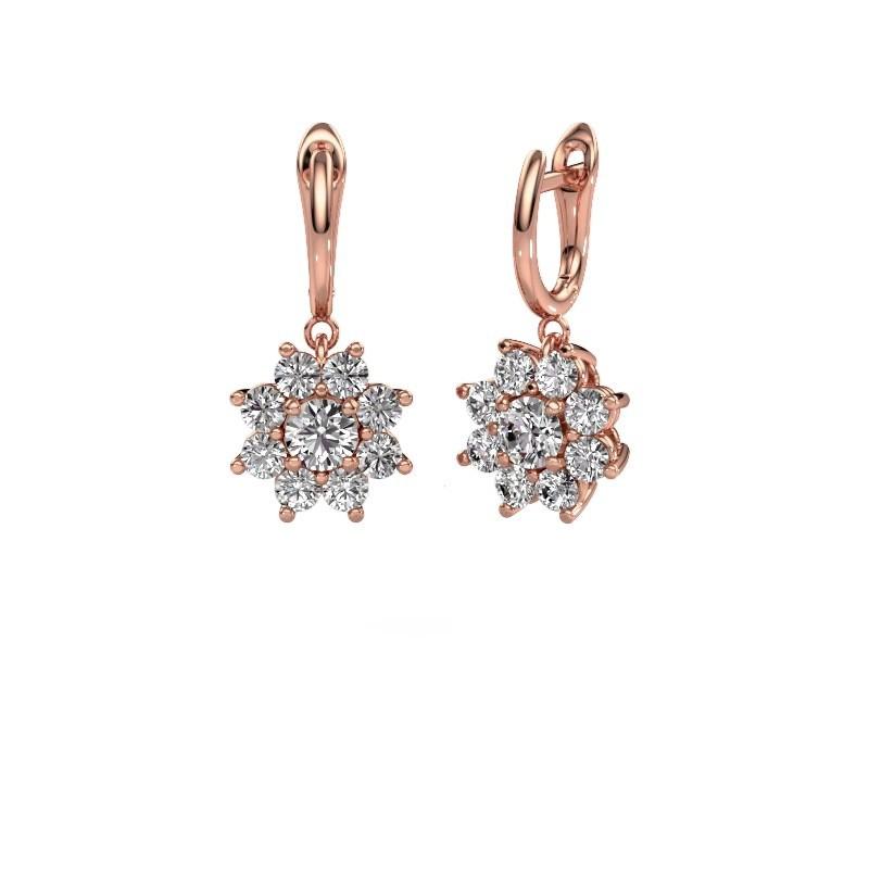 Ohrhänger Camille 1 375 Roségold Diamant 2.92 crt