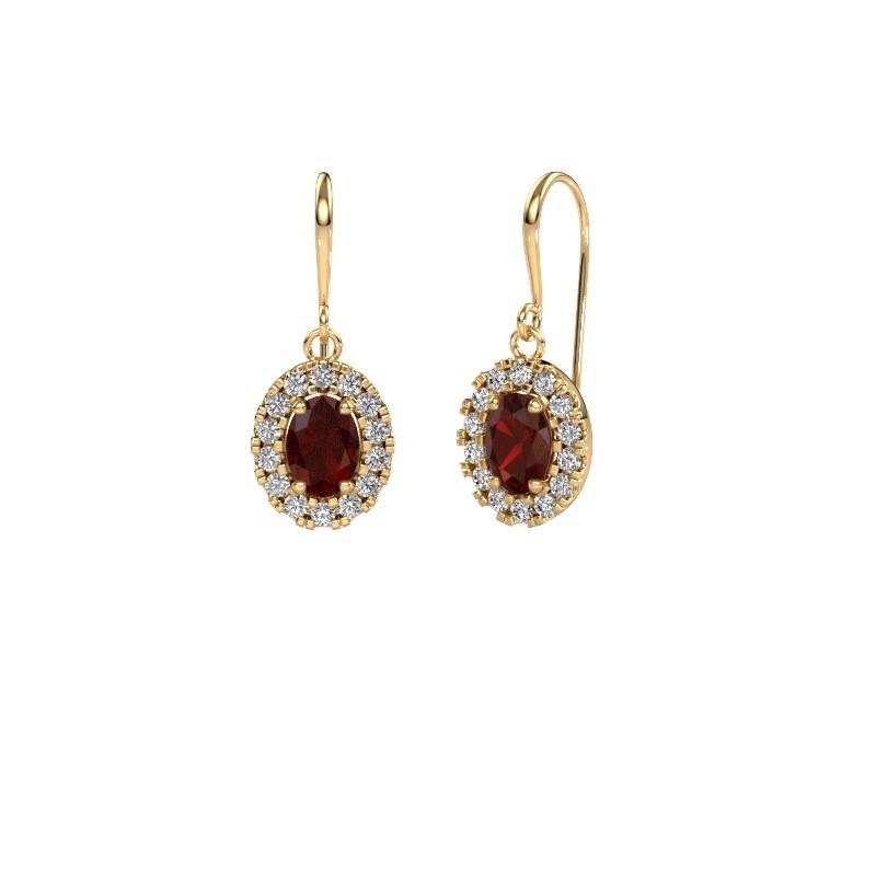 Drop earrings Jorinda 1 585 gold garnet 7x5 mm