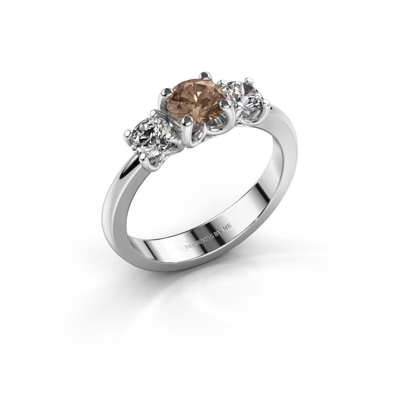 Verlobungsring Detra 950 Platin Braun Diamant 1.00 crt