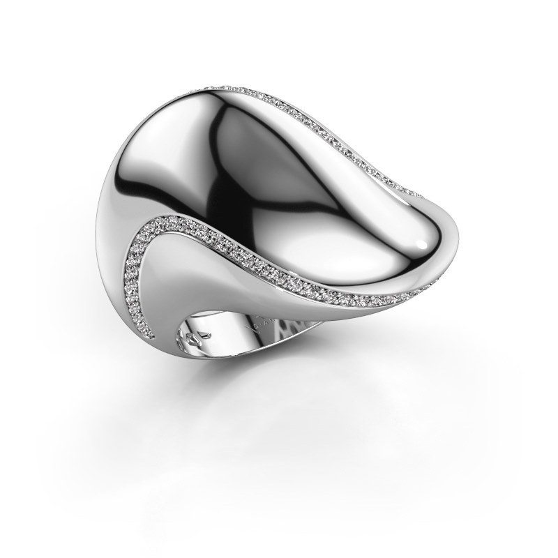Ring Phyliss 585 witgoud diamant 0.36 crt