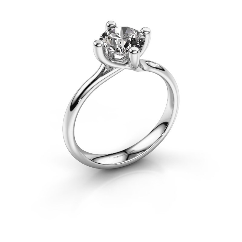 Engagement ring Dewi Round 925 silver diamond 1.00 crt