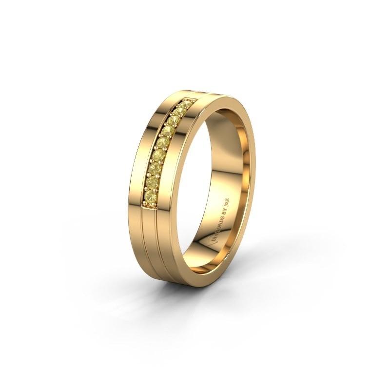 Trouwring WH0413L15AP 585 goud gele saffier ±5x1.7 mm