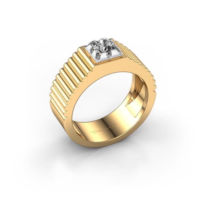 Pink ring Elias 585 goud zirkonia 5 mm