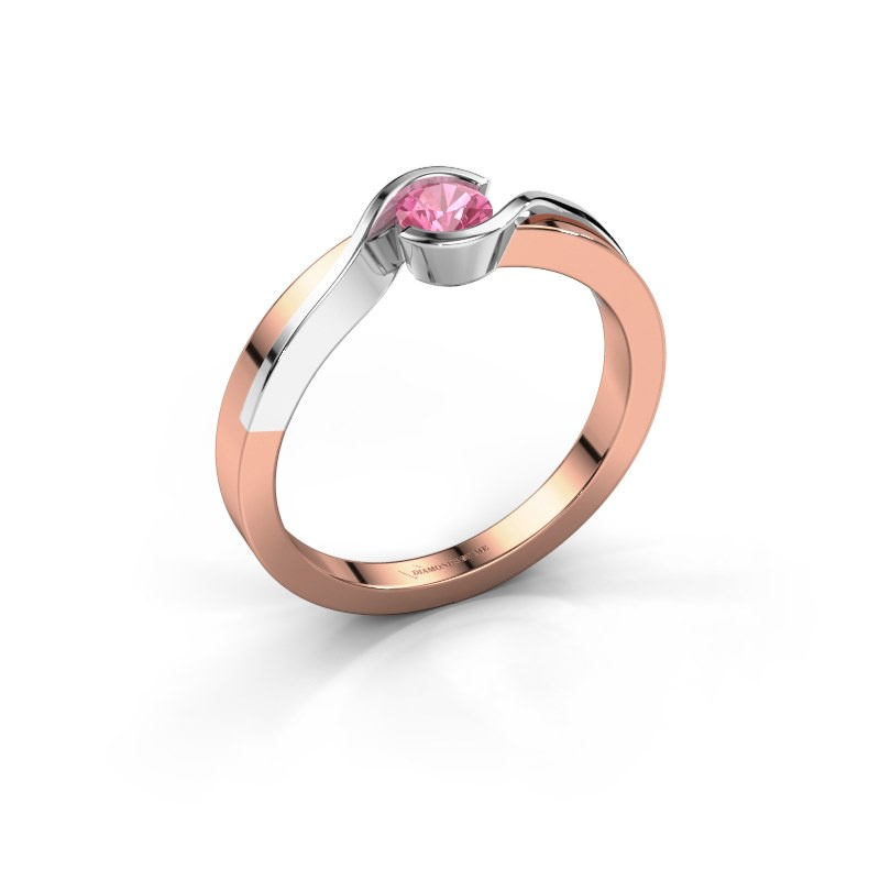 Ring Lola 585 rose gold pink sapphire 4 mm