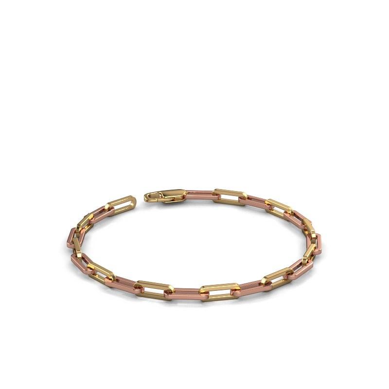 Armband CFE sqr 4.0 585 rosé goud ±4 mm