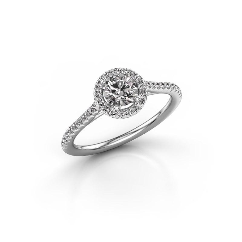 Engagement ring Seline rnd 2 925 silver diamond 0.755 crt