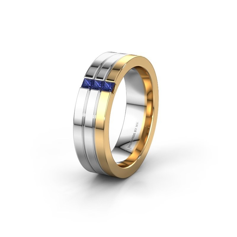 Wedding ring WH0428L16BP 585 gold sapphire ±0.24x0.08 in
