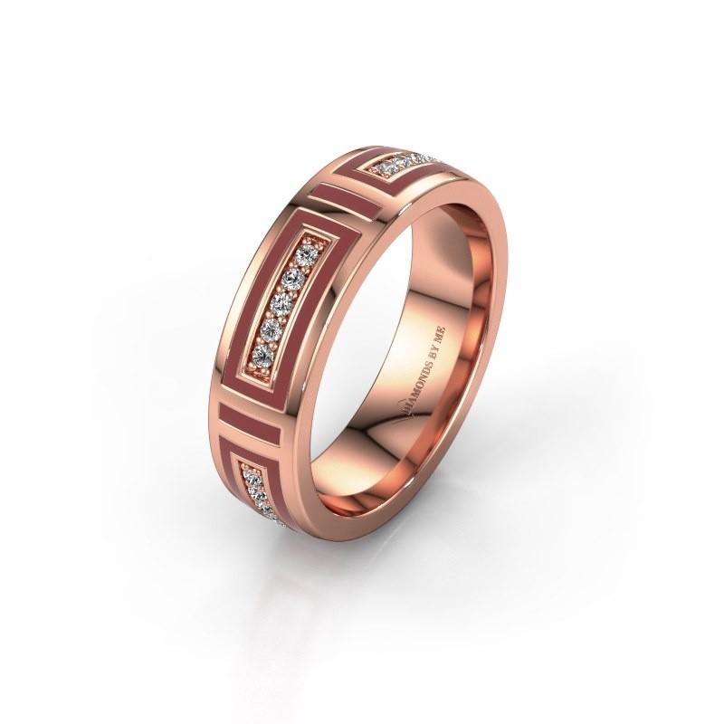 Trouwring WH2228L25A 375 rosé goud ±5x1.7 mm