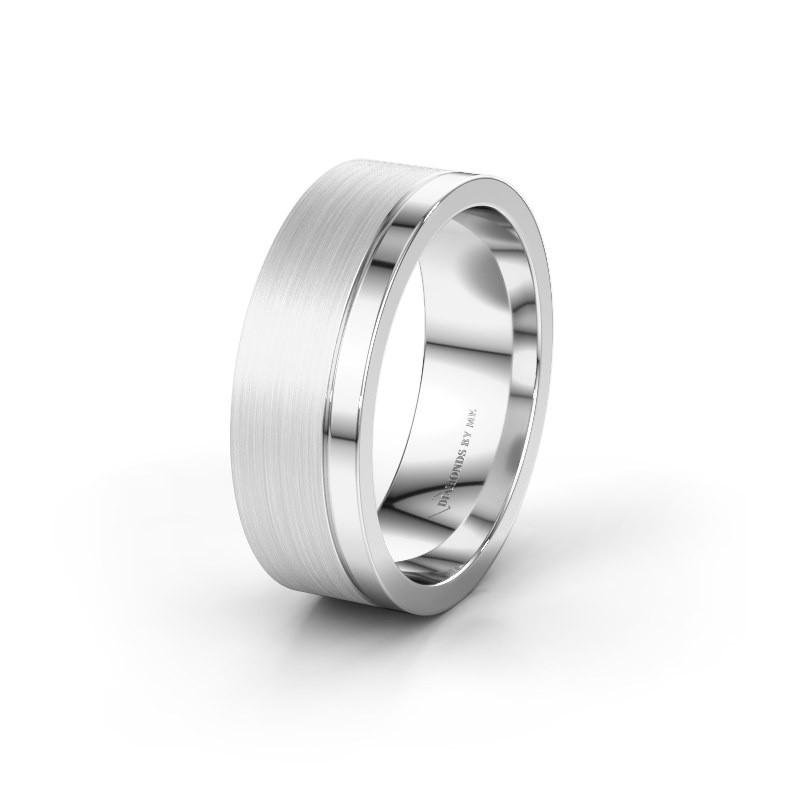 Wedding ring WH0325M17APM 585 white gold ±7x1.7 mm