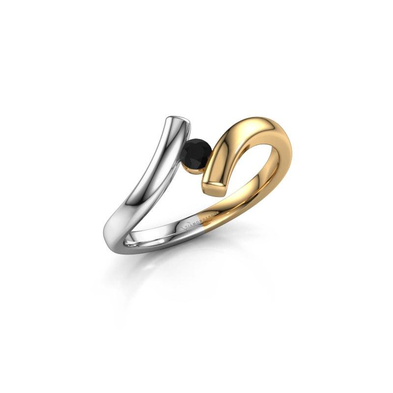 Ring Amy 585 goud zwarte diamant 0.12 crt