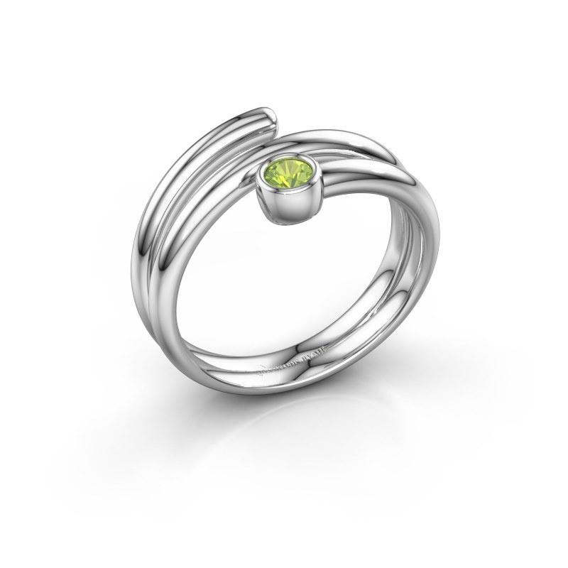 Ring Jenna 925 zilver peridoot 3 mm