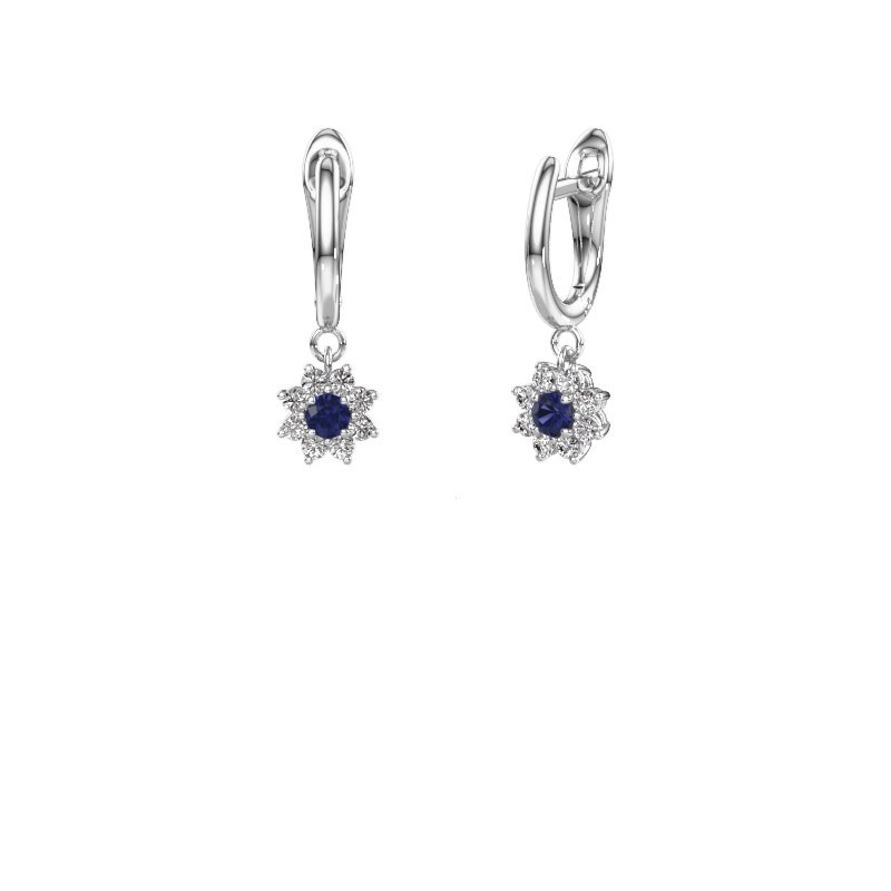 Drop earrings Camille 1 950 platinum sapphire 3 mm