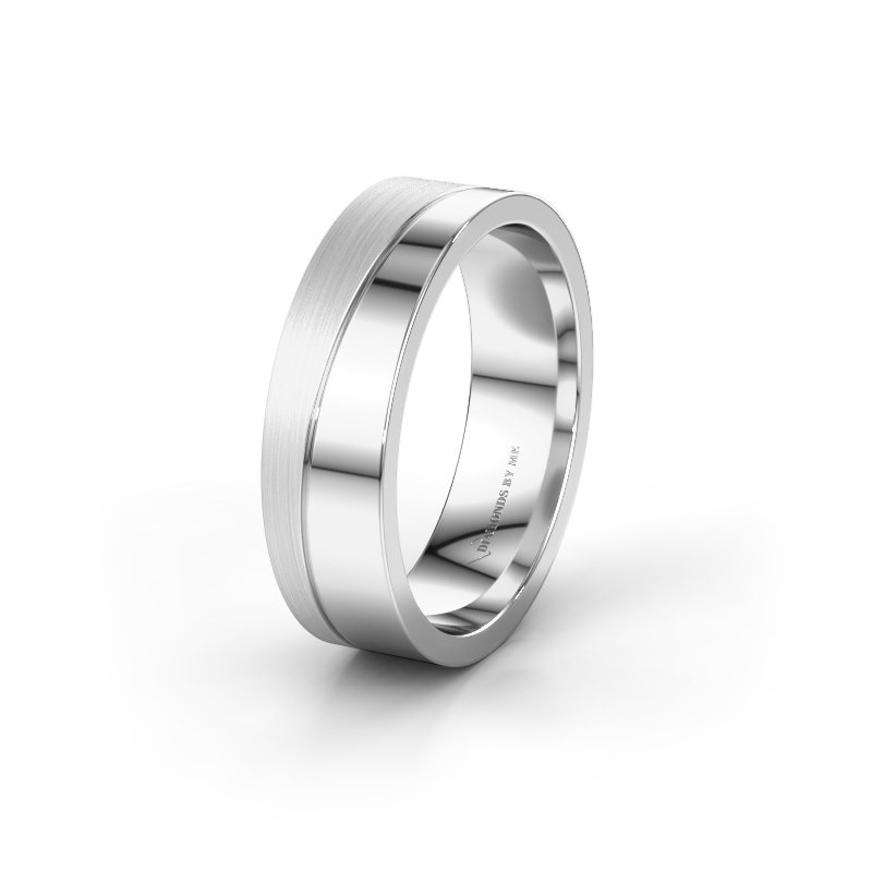 Wedding ring WH0906M16A 925 silver ±0.24x0.08 in