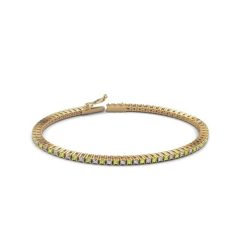 Tennis bracelet Simone 375 gold peridot 2 mm