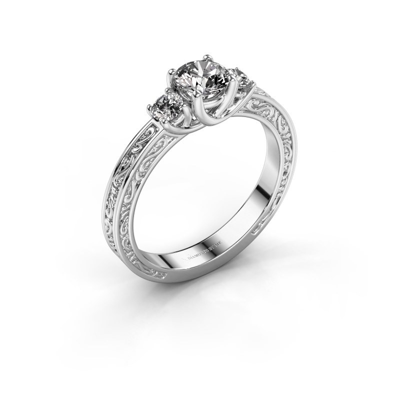 Verlovingsring Betty 1 585 witgoud lab-grown diamant 0.70 crt