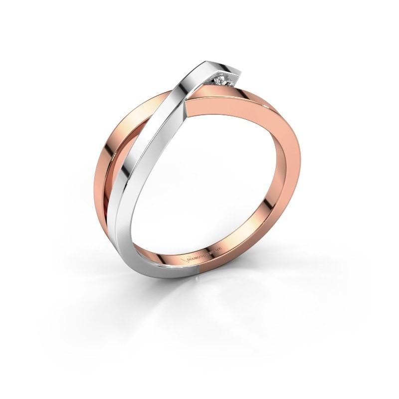 Ring Alyssa 585 rose gold lab-grown diamond 0.03 crt