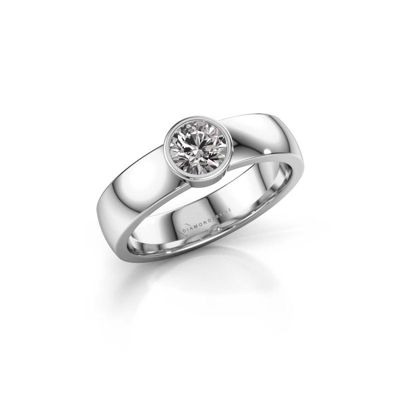 Ring Ise 1 950 platinum diamond 0.50 crt