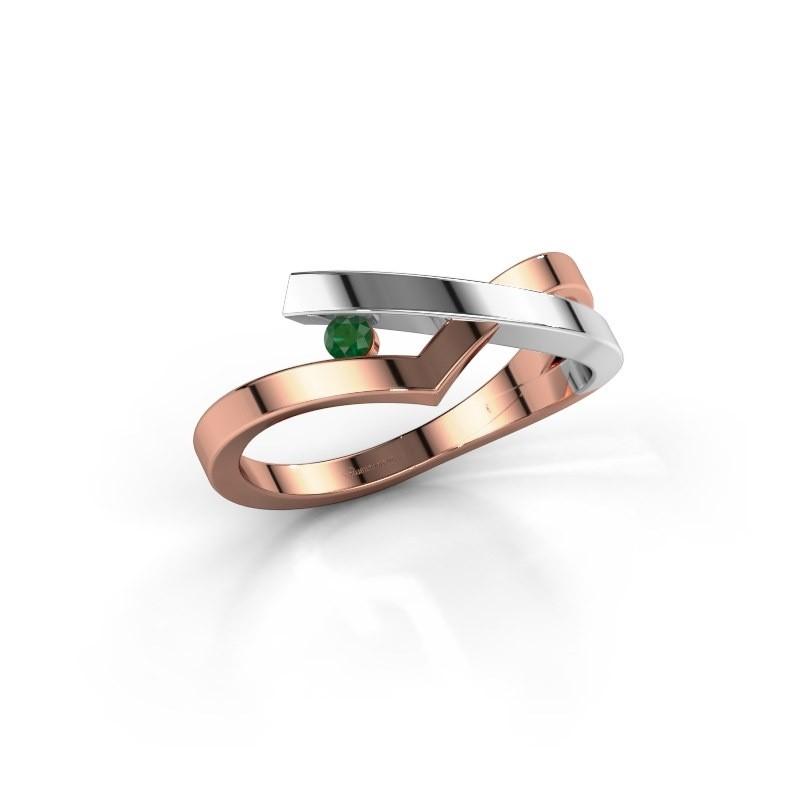 Ring Pamella 585 rose gold emerald 2.2 mm
