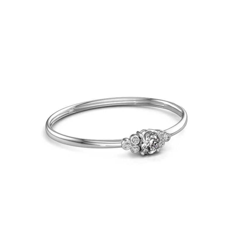 Slavenarmband Lucy 585 witgoud diamant 1.27 crt