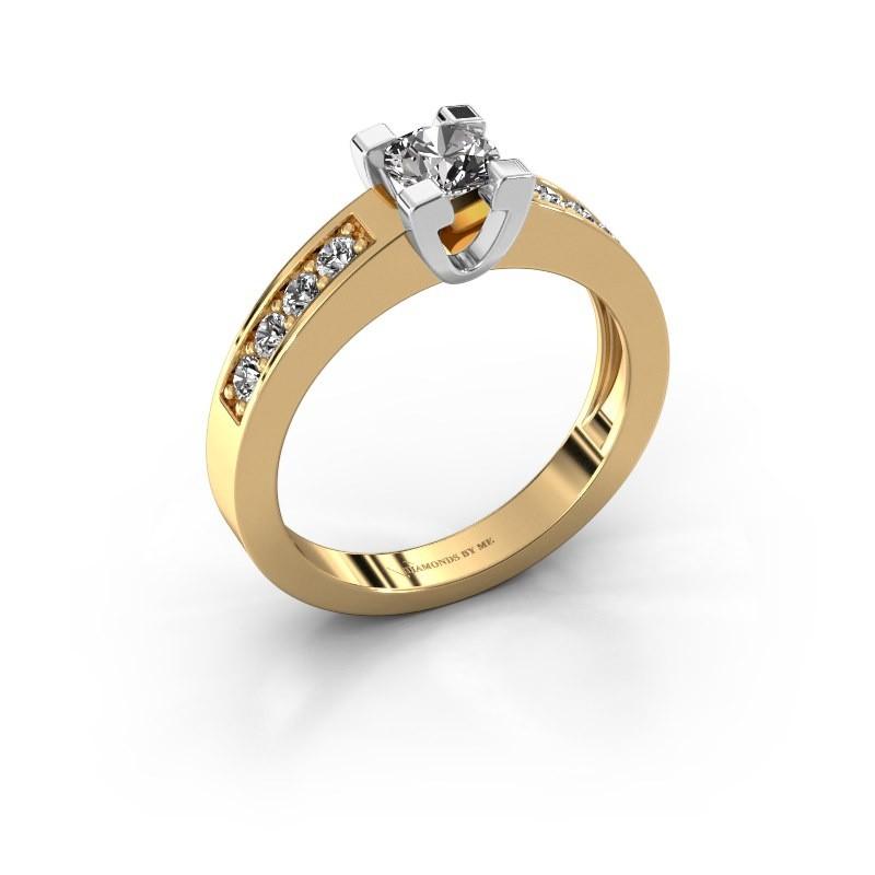 Aanzoeksring Anne 2 585 goud diamant 0.40 crt