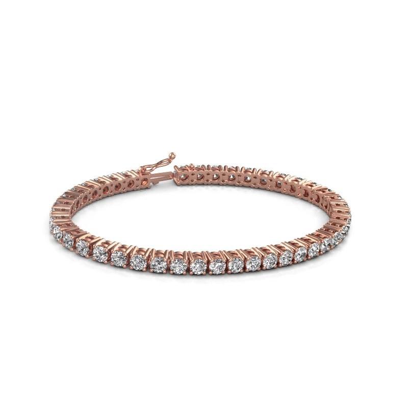 Tennis bracelet Karin 375 rose gold diamond 10.75 crt