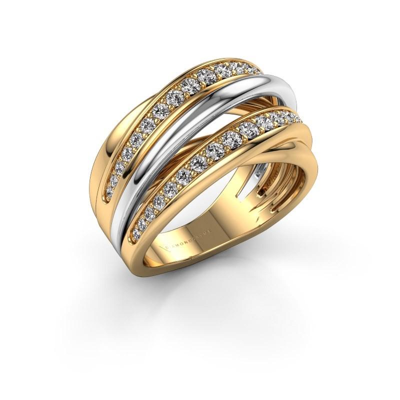 Ring Marylouise 2 585 gold diamond 0.618 crt