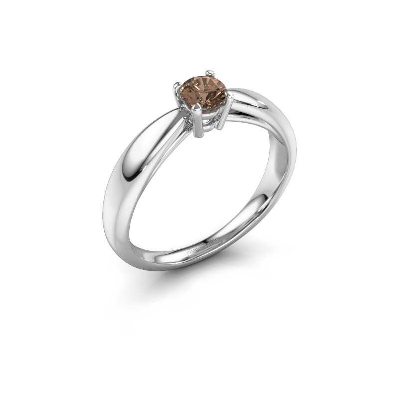 Verlovingsring Nichole 950 platina bruine diamant 0.30 crt