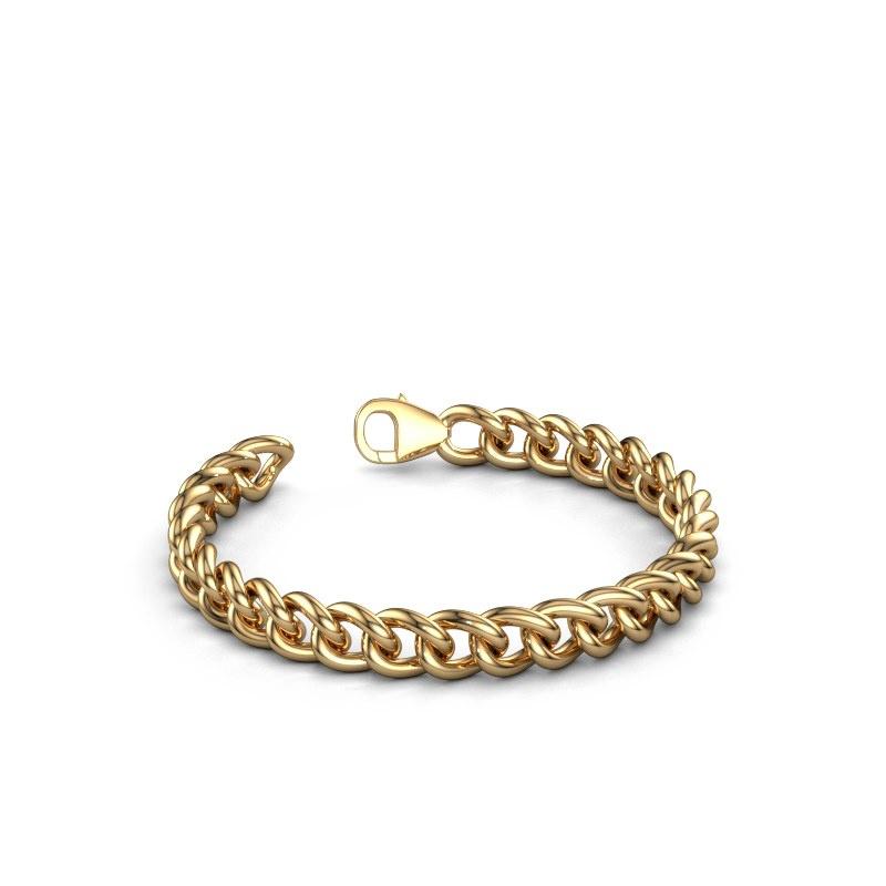 Cuban link armband ±8 mm 375 goud