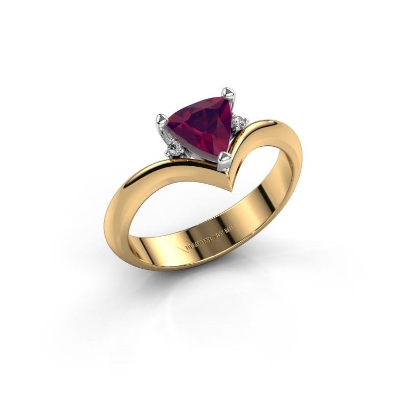Ring Arlette 585 goud rhodoliet 7 mm