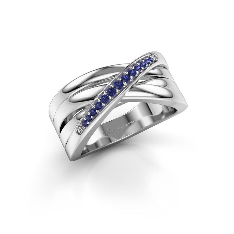 Ring Renna 2 585 white gold sapphire 1 mm