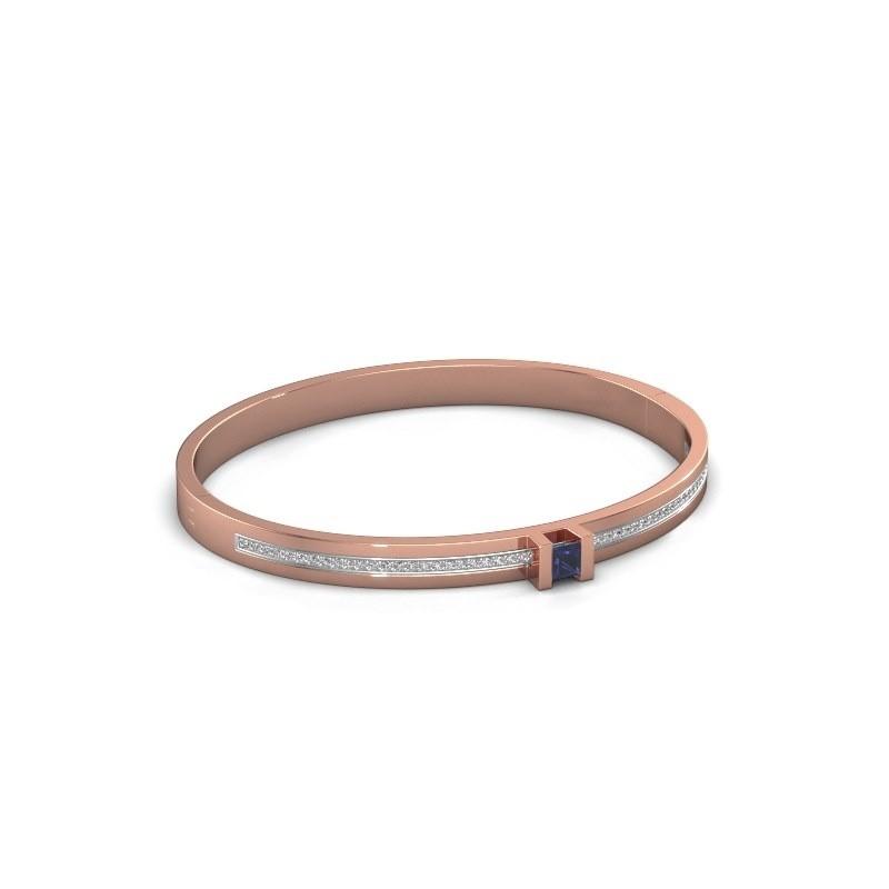 Armband Desire 585 rosé goud saffier 4 mm