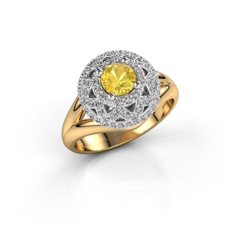 Ring Leonora 585 gold yellow sapphire 5 mm