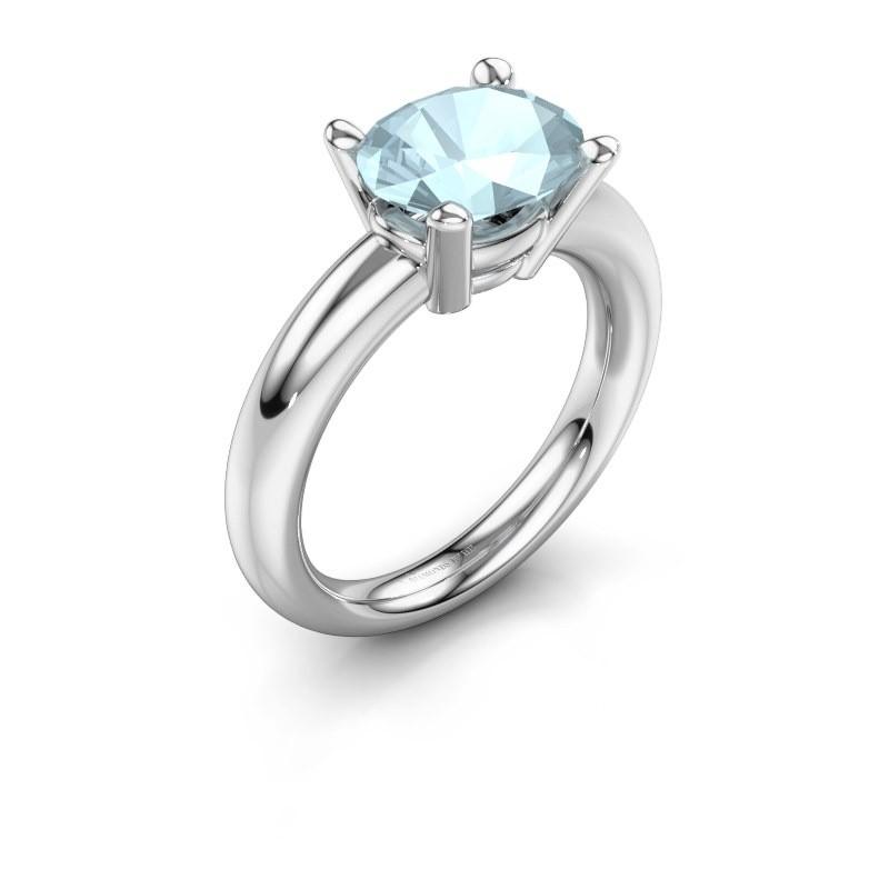 Ring Janiece 925 Silber Aquamarin 10x8 mm