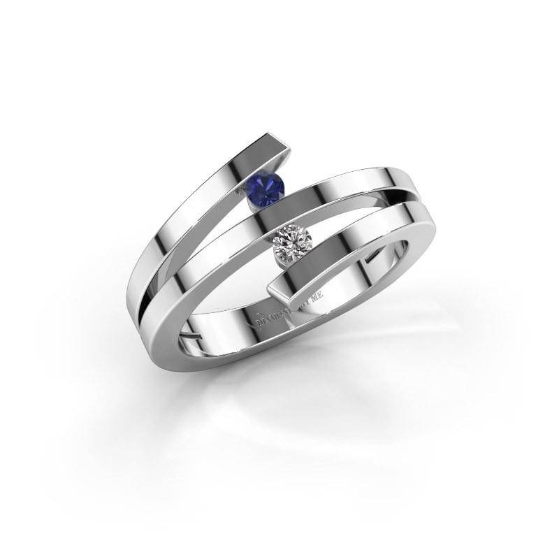 Ring Synthia 950 platinum sapphire 2.5 mm