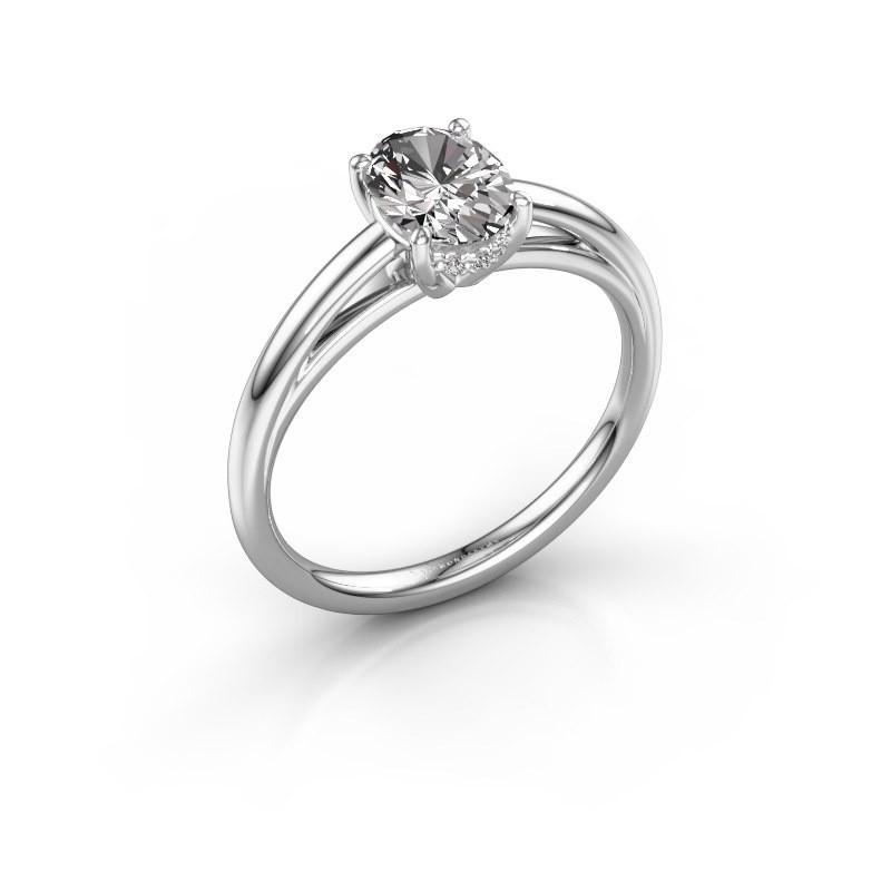 Verlovingsring Haley OVL 1 585 witgoud diamant 1.00 crt