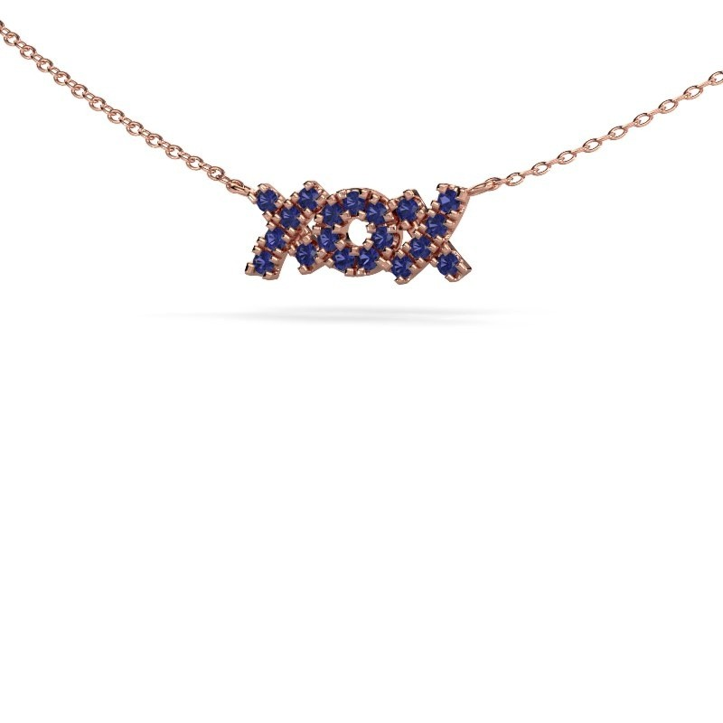 Collier XoX 375 or rose saphir 1.5 mm