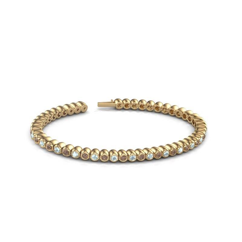 Tennisarmband Patrica 375 goud bruine diamant 2.75 crt