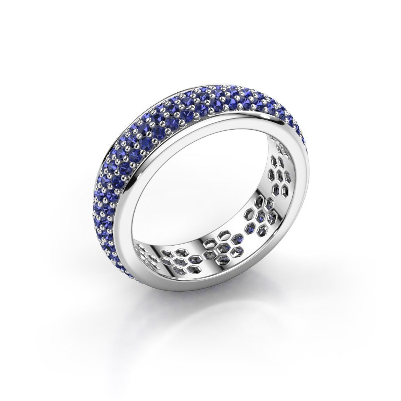 Ring Tara 585 white gold sapphire 1.3 mm