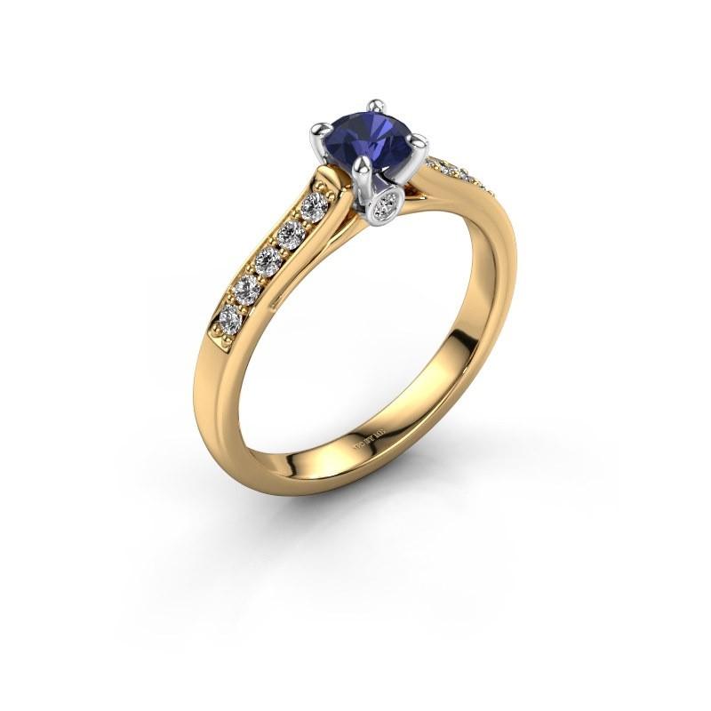 Verlovingsring Valorie 2 585 goud saffier 4.7 mm